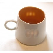 Porcelain Mug - Striped - Orange